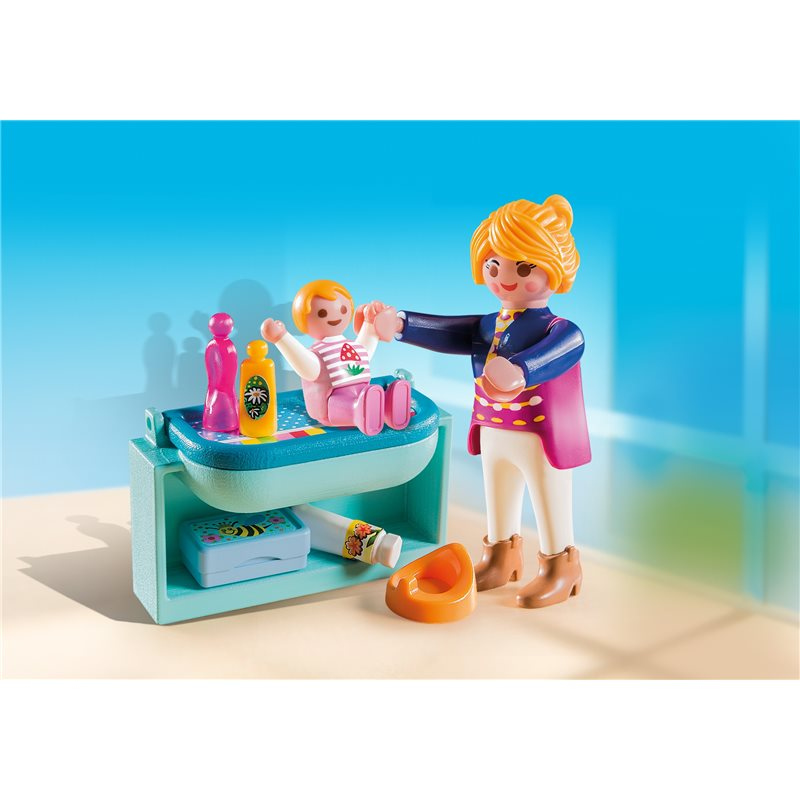 maman avec b b et table langer playmobil 5368 3 99 sur p. Black Bedroom Furniture Sets. Home Design Ideas
