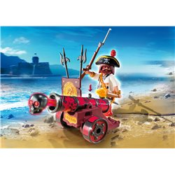 Pirate avec canon rouge - Playmobil 6163