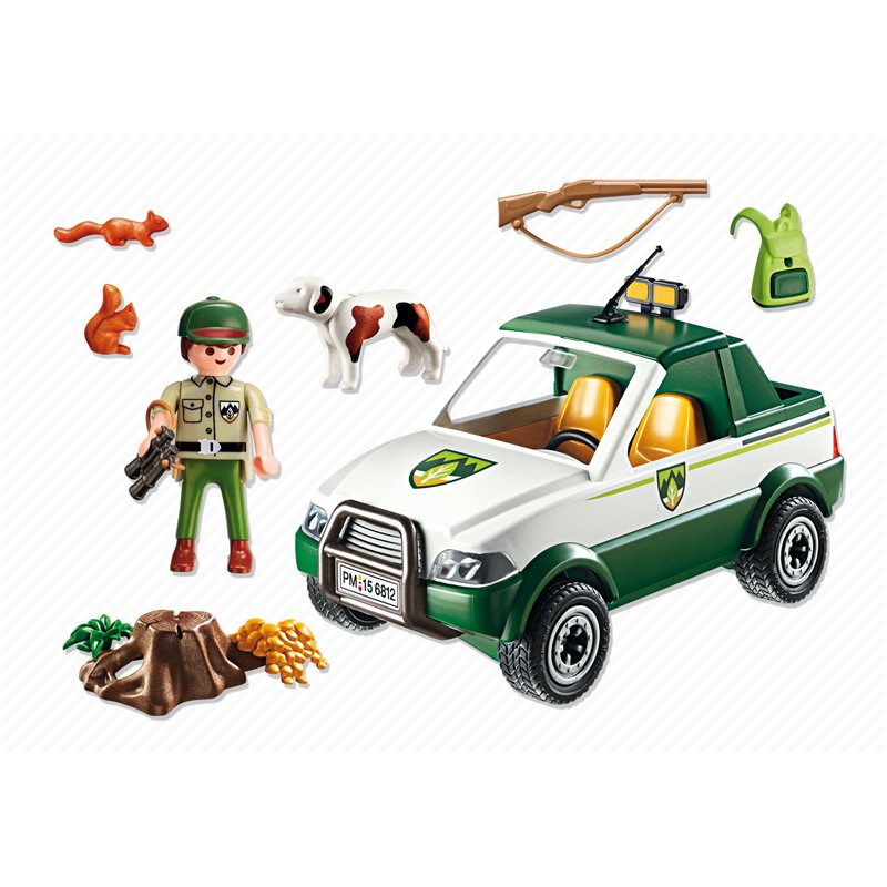 garde forestier avec pick up playmobil 6812 pogioshop jouets. Black Bedroom Furniture Sets. Home Design Ideas