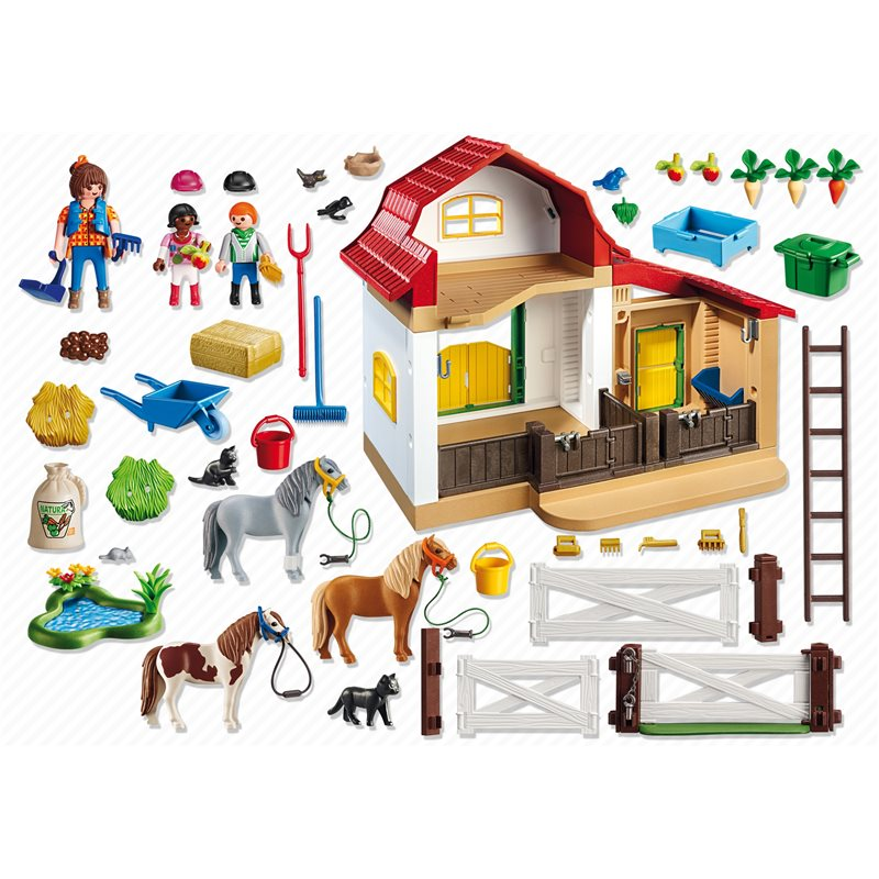 poney club playmobil 6927 pogioshop jouets. Black Bedroom Furniture Sets. Home Design Ideas