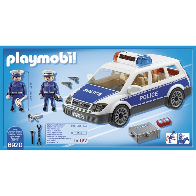 voiture de policiers avec gyrophare et sir ne playmobil 6920 2. Black Bedroom Furniture Sets. Home Design Ideas