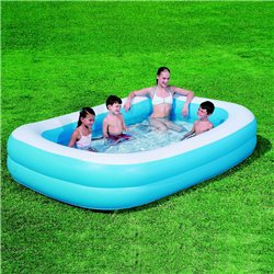Piscine gonflable rectangulaire bleue 262*174*51