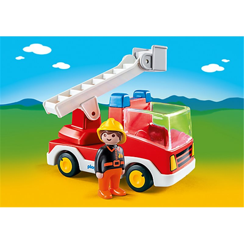 camion de pompier playmobil 6967 sur pogioshop. Black Bedroom Furniture Sets. Home Design Ideas
