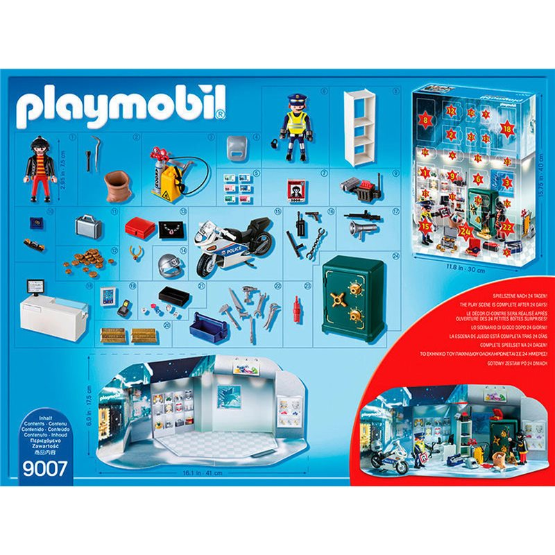 calendrier de l 39 avent policier et cambrioleur playmobil 9007. Black Bedroom Furniture Sets. Home Design Ideas