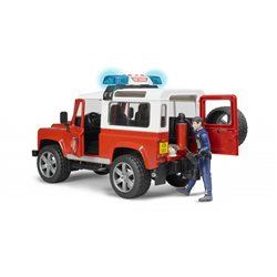 Land Rover Defender Station Fire with fireman