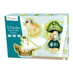 3 Puzzles géants Pirates - Avenue Mandarine 42433