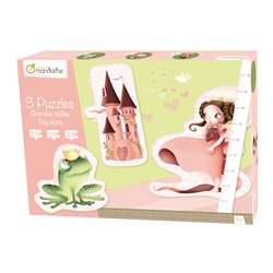 3 Puzzles géants Princesses - Avenue Mandarine 42437