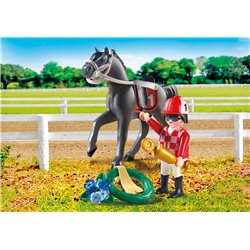 Jockey avec cheval de course - Playmobil 9261