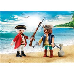 Pirate et soldat - Playmobil 9446