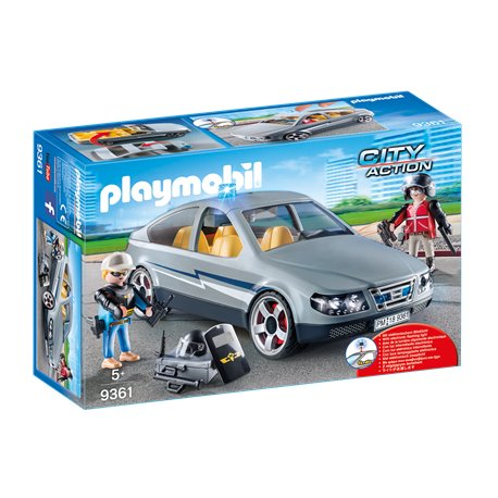 voiture banalis e avec policiers en civil playmobil 9361 pogioshop jouets. Black Bedroom Furniture Sets. Home Design Ideas