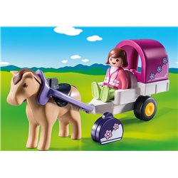 Carriole avec cheval - Playmobil 9390
