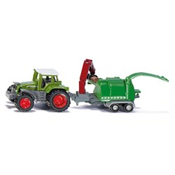 Tractor with wood chippers