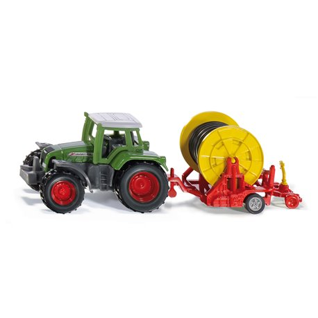 Tractor with irrigation trailer