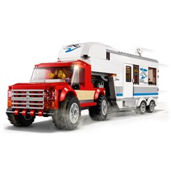 Le pick-up et sa caravane - Lego 60182