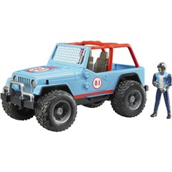 Jeep Cross country racer bleue avec conducteur - Bruder 02541