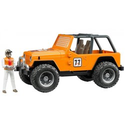 Jeep Cross country racer orange avec conducteur - Bruder 02542
