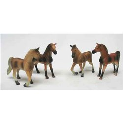 Lot de 4 Chevaux Debout - Kids Globe 570013