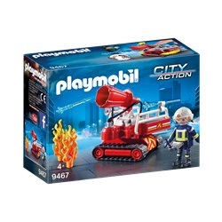 Pompier avec robot d'intervention - Playmobil 9467