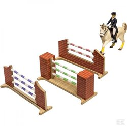 Set of 3 horse jumps 1/24 - Kids Globe 610119